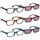The Reading Glasses Company Readers With Sun Reader Twin Pack Mens Womens