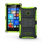 Dual Layer Shockproof Cover Hybrid Rugged Case for Microsoft Lumia 532
