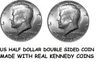 Double Sided KENNEDY HALF DOLLAR Double Headed US 50c - Made with Real Coins