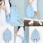 Korea Fashion Women Jean Two Pocket Backpack School Travel Sport Couple Bag New