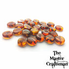 ☆1 Pc 8mm-10mm GENUINE BALTIC AMBER FLAT DISC POLISHED ROUND DRILLED LOOSE BEADS