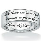 Stainless Steel Forever Love Message Script Around Love Romantic Ring Sizes 5-14
