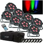 8x American DJ Mega TRIPAR Profile PLUS LED Lighting with Carry Bag