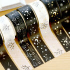 NEW Gold Foil Printing For Christmas Set Japanese Washi Paper Tape 15mmX5m Hot
