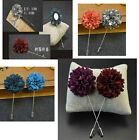 Handmade Men Boutonniere Lapel Brooch Pin Suit Tuxedo Corsage Wedding Prom Suit