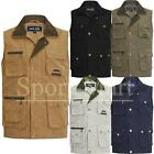 Mens Mode Mile Multi Pocket Mens Waistcoat Safari Shooting Fishing Hiking Gilet