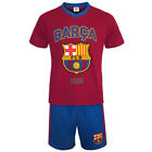 FC Barcelona Official Football Gift Mens Short Pyjamas Loungewear