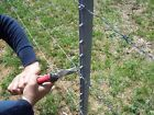 1.8m (6ft) HEAVY DUTY GALVANIZED METAL FENCE POST STAKE / STUDDED STEEL T-POST