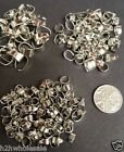 Platinum Silver Iron Bails for Necklace Making Findings Choose Size & Qty UK