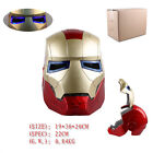 Quality IRON MAN Helmet Mask LED Light PVC Openable Tony Cosplay Mask 2Colors