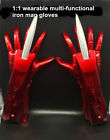 IRON MAN 1:1 Multi-functional LED Light Sharp Dresser Sleeve Sword Glove Cosplay
