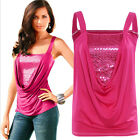 Women Sequins Tops FitWomen Tops Tank T-shirts Spaghetti Strap Ribbed Blouses