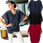 Sexy Women Lace Batwing Sleeve T-Shirt Summer Casual Loose Tops Blouse Shirt New