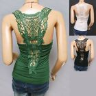 Stunning Floral Ruched Embroidered Hippie Tank Top