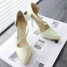 Womens Ladies Strappy Pointed Toe High Heel Mary Jane Shoes Size EUR 35-43 I940