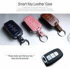 3Button Stitched Smart Key Leather Case Cover Holder Pouch HKLU-1 for KIA Car