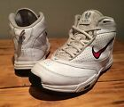 Boy's Nike US Shoe Size (Youth) 5.5 White And Red Hightop Shoes