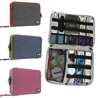 Extra large Double-Deck Organizer Bag Contain Cables HDD USB Flash Drive Case