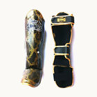 TOP KING Shin Guard Pro SNAKE Genuine leather Muay Thai Kick Boxing MMA Sparring