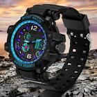 SD-729 Men's Multifunction Outdoor Sports Electronic LED Silicone Watches MSYG