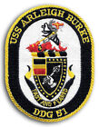 US Navy DDG-51 USS ARLEIGH BURKE Guided Missile Destroyer Ship Crest Patch