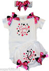 Personalized Baby Girl Hot Pink & Black Dot Onez, Diaper Cover & HB Free Ship