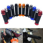 "New Motorcycle Aluminum Rubber Gel Hand Grips End 7/8"" Handle Bar Bike Bicycle"