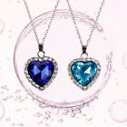 Hot Sell Women Crystal Pendant Necklace Jewelry Blue Statement Long Choker Chain