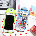 3D Cute Disney Stitch Mike Soft Rubber Silicone Case Cover for iPhone 6/6S Plus