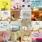 Art Home Room DIY Decor Quote Wall Decal Stickers Bedroom Removable Mural Vinyl