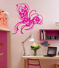 Vinyl Wall Decal Sticker Kid Room Decor fancy Butterfly