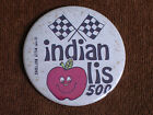 "Indianapolis 500/Checkered Flags/Smiley Face Apple/1981 Billy Button/3"" Diameter"