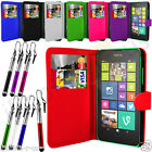 7 Colour PU Leather Wallet Flip Mobile Phone Case Cover For Nokia Lumia 630