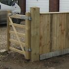 Wooden Gate Post 2.4-3.0m Pyramid,Flat Top DELIVERY 50 MILES BOSTON LINCOLNSHIRE