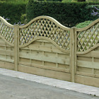 Arched Trellis Fence Panel Omega FREE DELIVERY 50 MILES BOSTON LINCOLNSHIRE