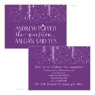 Personalised engagement party invitations PURPLE SPARKLE POP FREE ENVELOPES & DR