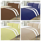 NEW REVERSIBLE DYED DUVET COVER QUILT COVER BEDDING SET & 2 PILLOW CASES