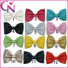 "3""Mini Baby Girl's Leather Bow With Hair Clip Small Hair Bows  For Girl"