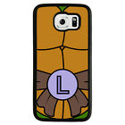Ninja Turtle for black Rubber for Samsung Galaxy S6 Phone Case