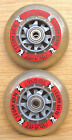 "1 or 2 Push Scooter 100mm / 4"" Spare PU Wheels Replacement Pair + or - Bearings"