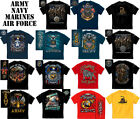 military tee graphic t-shirt army navy marine air force usa patriotic