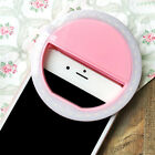 Rechargeable Selfie LED Ring Fill Light Camera Photography for iPhone Samsung LG