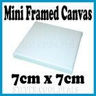 Mini Blank Artist White Stretched Frame Cotton Canvas 7cm x 7cm Art Craft NEW