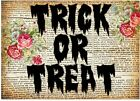 Halloween Trick Or Treat & Roses Quilt Block Multi Szs FrEE ShiPPinG WoRld WiDE