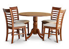 DLML5-SBR 5 Piece Small Kitchen Table Set-round kitchen table and 4 chairs
