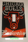 Chicago Bulls Budweiser Beer Logo Switch Outlet wall Cover Plate Home Decor