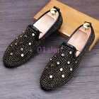 2016 Fashion Mens Slip On Loafers Spring Rivet Leisure Shoes