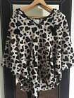 One Size Primark Snuggly Leopard Print Poncho Fab Condition!