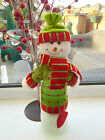 Cute Cuddly Snowman Christmas Wine Bottle Cover Table Decoration Secret Santa