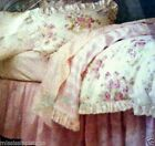Simply Shabby Chic White Essex Floral Duvet Comforter Cover sham Set pink rose